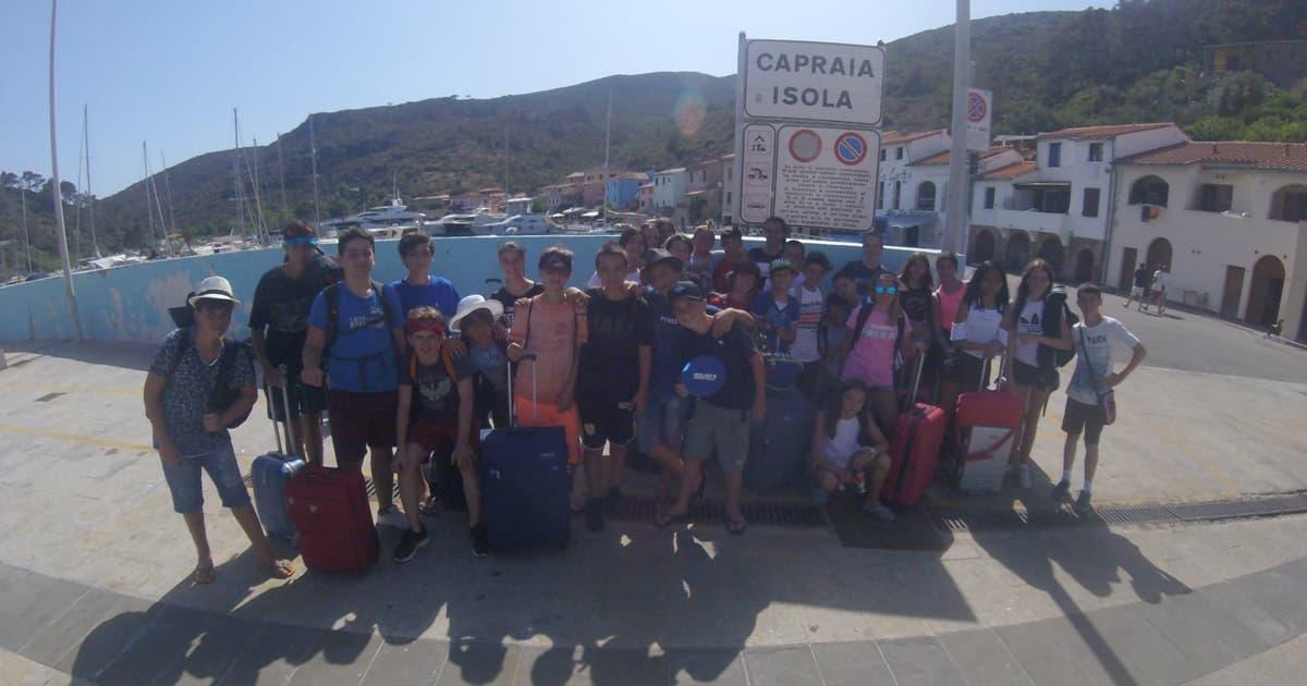 Soggiorno Studio Capraia 2019: 430 ragazzi alla scoperta dell'isola e del suo mare